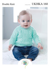 Double Knitting Pattern Cabled Detail Jumper 0 To 2 years 41-56 cm 16-22 inches - Hobby & Crafts
