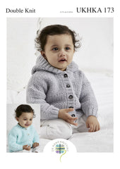 Double Knitting Pattern Cardigan With Optional Hood 0 To 1 years 31-51 cm 12-20 inches - Hobby & Crafts