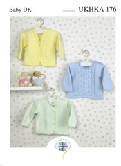 Double Knitting Pattern Cardigans Jumper 0 To 1 years 31-56 cm 12-22 inches - Hobby & Crafts