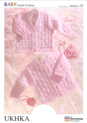 Double Knitting Pattern Cardigans 0 To 6 years 41-66 cm 16-26 inches - Hobby & Crafts