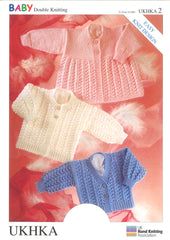Double Knitting Pattern Cardigans Matinee Coat 0 To 1 years 31-51 cm 12-20 inches - Hobby & Crafts