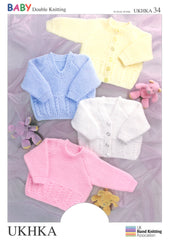 Double Knitting Pattern Sweater Cardigan 0 To 6 years 41-66 cm 16-26 inches - Hobby & Crafts