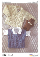 Double Knitting Pattern Sweater Slipover 0 To 6 years 41-66 cm 16-26 inches - Hobby & Crafts