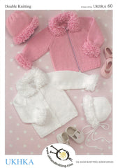 Double Knitting Pattern Cardigans Hat Bonnet 3 months To 6 years 46-66 cm 18-26 inches - Hobby & Crafts