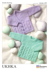 Double Knitting Pattern Cardigans Sweater 0 To 4 years 41-61 cm 16-24 inches - Hobby & Crafts
