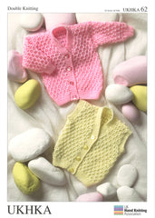 Double Knitting Pattern Cardigans Waistcoat 0 To 4 years 41-61 cm 16-24 inches - Hobby & Crafts