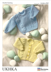 Double Knitting Pattern Cardigan Sweater 0 to 4 Years 30-61 cm 12-24 inches - Hobby & Crafts
