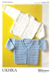 Double Knitting Pattern Ridge Stitch Cardigans 0 To 6 years 41-66 cm 16-26 inches - Hobby & Crafts