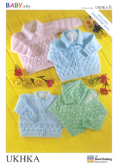 4 Ply Knitting Pattern Cardigans Sweater 0 - 2 Years 31-56 cm 12-22 inches - Hobby & Crafts