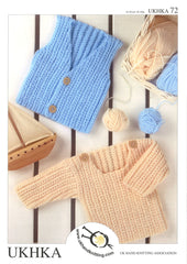 Knitting Pattern Boys Sweater Waistcoat 0 to 4 Years 41-61 cm 16- 24 inches - Hobby & Crafts