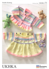 Double Knitting Pattern Dress Cardigans 0 To 4 years 30.5-61 cm 12-24 inches - Hobby & Crafts