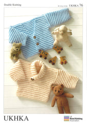 Double Knitting Pattern Sweater Cardigans 0 To 4 years 30.5-61 cm 12-24 inches - Hobby & Crafts