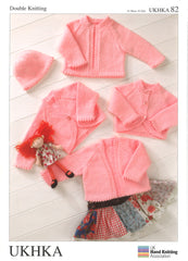 Double Knitting Pattern Boleros Cardigans Hat 0 To 2 years 31-56 cm 12-22 inches - Hobby & Crafts