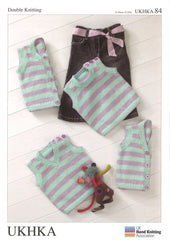 Double Knitting Pattern Waistcoats Slipovers 0 To 2 years 31-56 cm 12-22 inches - Hobby & Crafts
