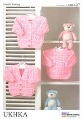 Double Knitting Pattern Cardigans Sweaters 0 To 2 years 31-51 cm 12-20 inches - Hobby & Crafts