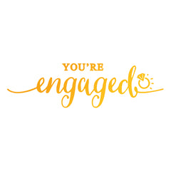 Youre Engaged GoPress Foil Machine Hotfoil Stamp Cards Scrapbooking 90mm x 25mm - Hobby & Crafts