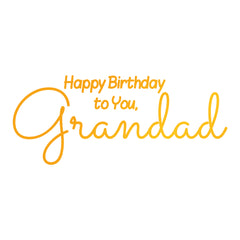 Grandads Birthday GoPress Foil Machine Hotfoil Stamp Cards Scrapbooking 75mm x 31mm - Hobby & Crafts