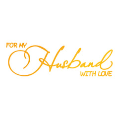 Husband With Love GoPress Foil Machine Hotfoil Stamp Cards Scrapbooking 80mm x 25mm - Hobby & Crafts