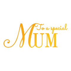 Special Mum GoPress Foil Machine Hotfoil Stamp Cards Scrapbooking 87mm x 33mm - Hobby & Crafts