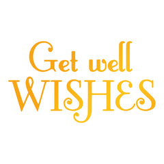 Get Well Wishes GoPress Foil Machine Hotfoil Stamp Cards Scrapbooking 75mm x 42mm - Hobby & Crafts
