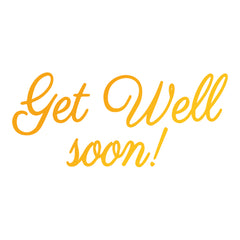 Get Well Soon GoPress Foil Machine Hotfoil Stamp Cards Scrapbooking 78mm x 35mm - Hobby & Crafts