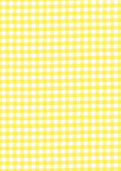 "Yellow Gingham Polycotton 1/4"" Checked Fabric Select Size 112cm Wide"