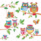 5 Napkins Owls Indian Summer Branch 33 x 33 cm Tissue Decoupage Paper Party Craft - Hobby & Crafts