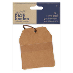 Papermania Bare Basics Memo Blocks With Ring Brown Note Making Scrapbooking Crafts
