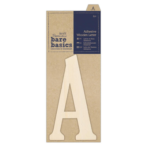 Papermania Bare Basics Adhesive Wooden Alphabet Letters Home Decoration Scrapbooking Crafts
