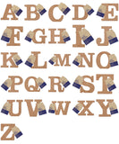 Papermania Bare Basics MDF Alphabet Letters ( A - Z ) Home Wedding Decoration Scrapbooking Crafts