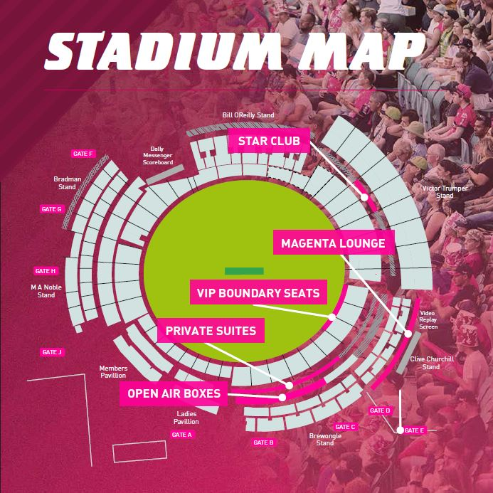 Private Suite - SCG - Sydney Sixers Big Bash 2019-2020