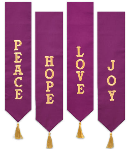 Beau Veste Advent Wreath Banners Set of 4 (Style AB4)