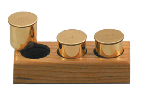 Wooden Ambry Set with Three Canisters (Style 4890)