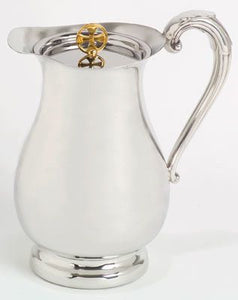 Pewter Flagon Gold Plated Cross on Lid (Style K76)