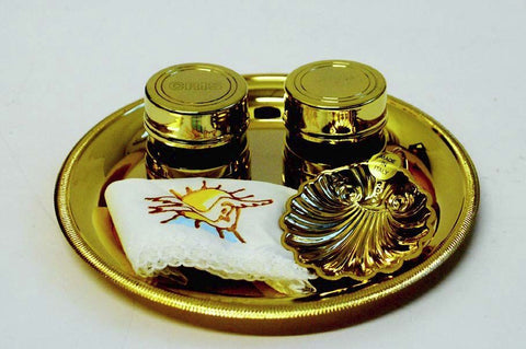 Gold Plated Batismal Set (Style 3913)