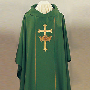 Cross & Crown Chasuble and Stole (Style: 420-CC)