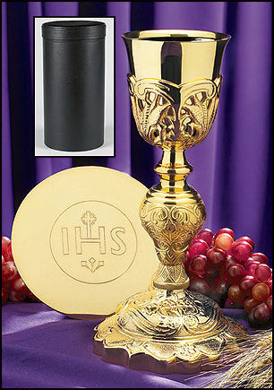 Coronation Chalice with IHS Paten & Case (Series NC901)