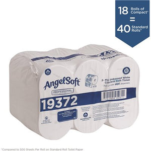 Compact Coreless High Capacity Toilet Paper 2-Ply