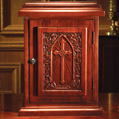 Wooden Tabernacle with IHS Cross Design (Series WS942)