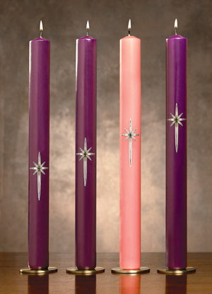 "Advent Candle Set: Star of Bethlehem 1-1/2"" (Style: 34291)"