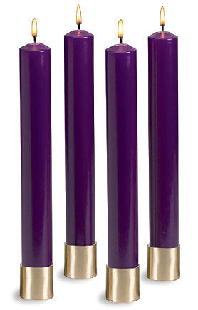 "Purple Advent Candle Set: 16"" (Style: WAF008)"