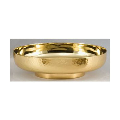 "9"" Bowl Paten with Hammered Oustide and Polished Interior  (Style 4910-9)"
