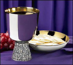 Last Supper Chalice and Bowl Paten (Series NC902)