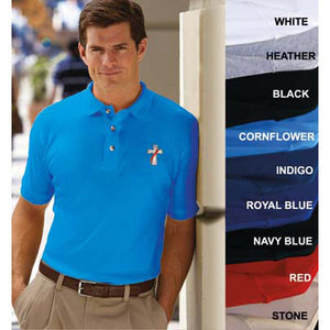 Beau Veste Men's Egyptian Interlock Short Sleeve Polo (Style 8505)