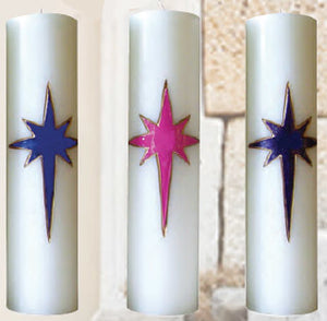 "Advent Candles : Advent Pillars for the Season 3"" x 11"""