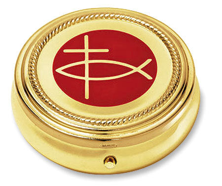 Ichthus Cross Pyx - 3 Pack (Series RS130)