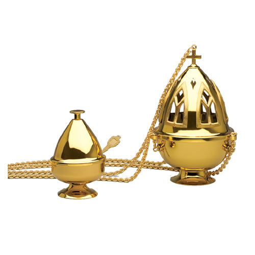 3 Chain Censer & Boat (Style 2680)