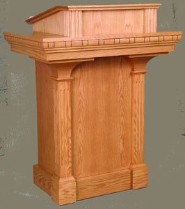wooden pulpit with extended shelf style 650 north star brands