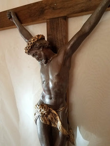 "38"" Christ Our King Wall Crucifix, Bronze Tone (Style: UTM COK-BZ38)"