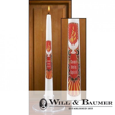 "Confirmation Candle: ""Come Holy Spirit"" (Case of 12)"